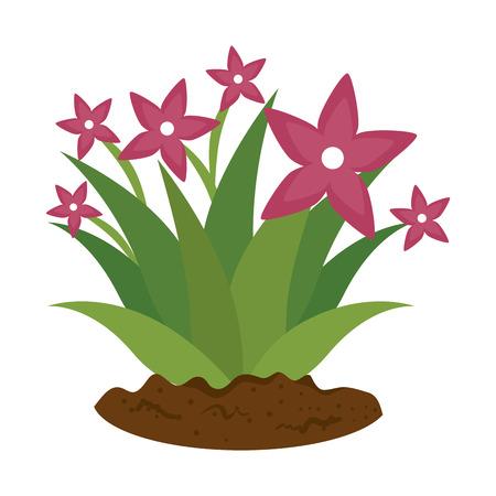 garden flower cultivated icon vector illustration design