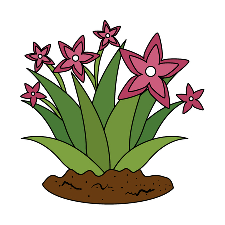 garden flower cultivated icon vector illustration design