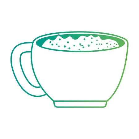 cup with one handle vector illustration design