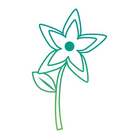 cute flower garden decoration vector illustration design