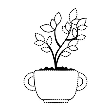 beautiful bonsai houseplant in pot vector illustration design Фото со стока - 96575785