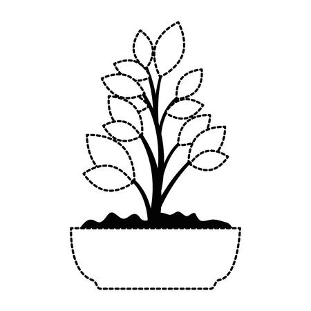 beautiful bonsai houseplant in pot vector illustration design Фото со стока - 96575801