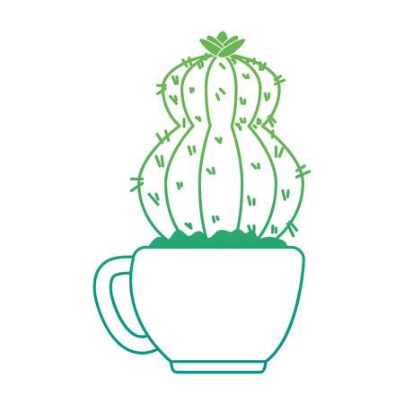 beautiful cactus houseplant in pot vector illustration design Imagens - 96575812
