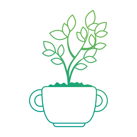 beautiful bonsai houseplant in pot vector illustration design Фото со стока - 96575844
