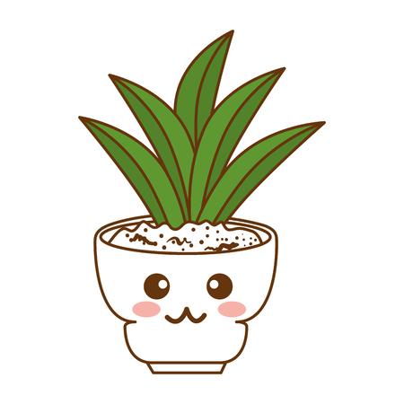 Houseplant in a pot vector illustration design