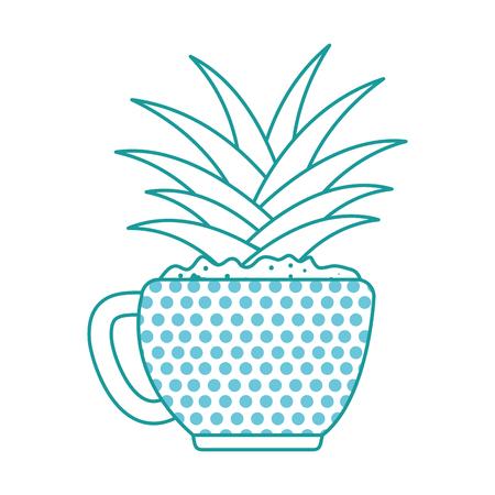 Beautiful houseplant in pot vector illustration design.