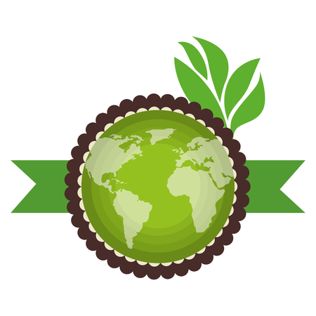 go green world planet vector illustration design
