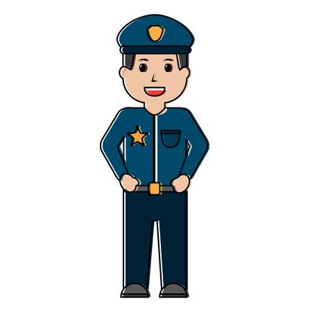 Policeman smiling icon image vector illustration design