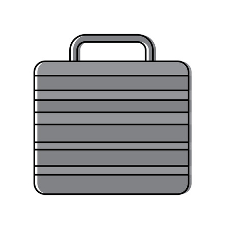 briefcase business icon image vector illustration design  イラスト・ベクター素材