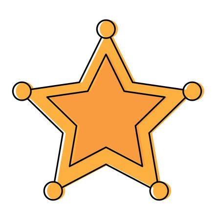 警察保安官スターアイコン画像ベクトルイラストデザイン