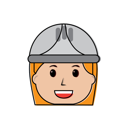 woman engineer or contractor icon image vector illustration design
