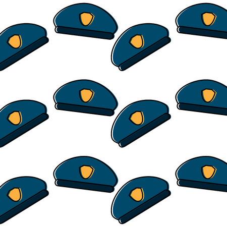 police hat pattern image vector illustration design