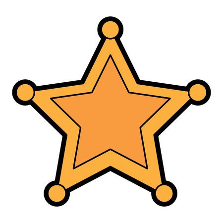 Police sheriff star icon image vector illustration design 向量圖像
