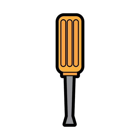 Screwdriver tool repair icon image vector illustration design Illustration