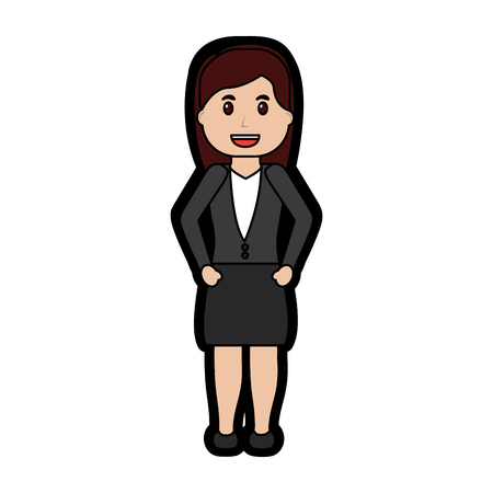 business woman happy icon image vector illustration design Illustration