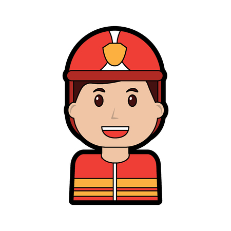 firefighter happy icon image vector illustration design