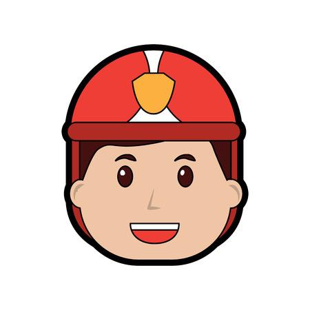 Firefighter happy icon image vector illustration design. Illusztráció