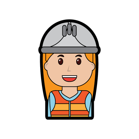 Woman engineer or contractor icon image vector illustration design Ilustração