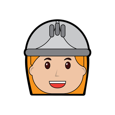 Woman engineer or contractor icon image vector illustration design Ilustração