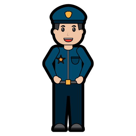 policeman smiling icon image vector illustration design Illustration