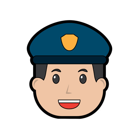 policeman smiling icon image vector illustration design Stock Vector - 96596336