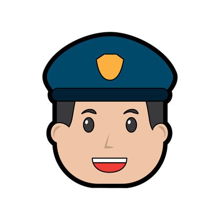 policeman smiling icon image vector illustration design Illustration