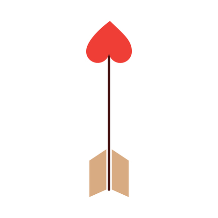 arrow heart cupid valentines day icon image vector illustration design Illustration