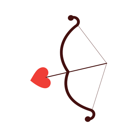 Bow and arrow cupid valentines day icon image vector illustration design