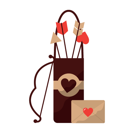 arrow holder cupid valentines day icon image vector illustration design Illustration