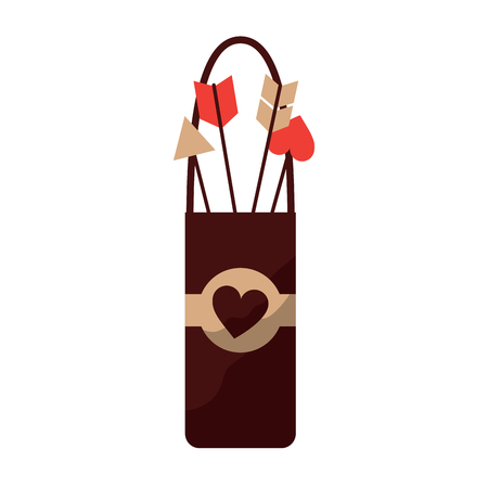 arrow holder cupid valentines day icon image vector illustration design Ilustração