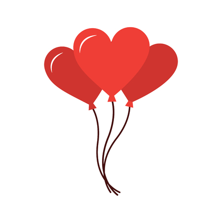 Heart balloon valentines day icon image vector illustration design Illusztráció
