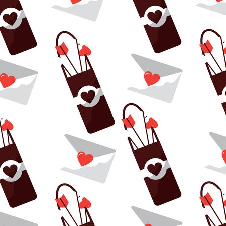 arrow holder love letter cupid valentines day pattern image vector illustration design Illustration