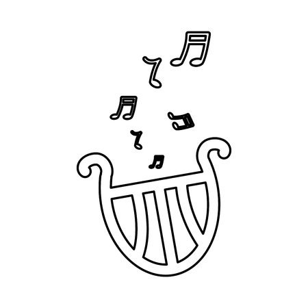Lyre harp musical instrument icon image vector illustration design  イラスト・ベクター素材