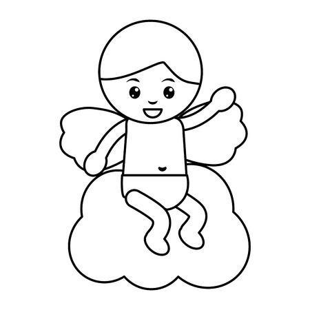 baby angel icon image vector illustration design Archivio Fotografico - 96596759