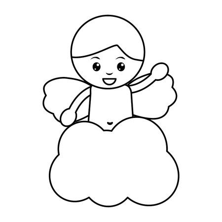 baby angel icon image vector illustration design Archivio Fotografico - 96596757