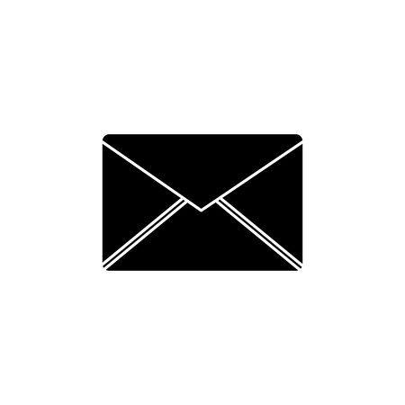 message envelope icon image vector illustration design  black and white