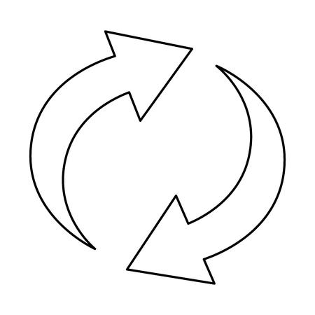 Pfeile um Symbol zu speichern Standard-Bild - 96588934