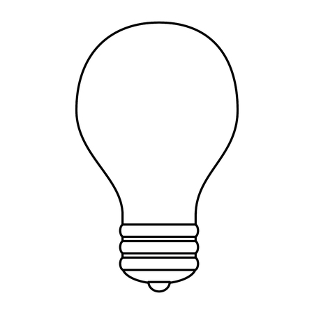 Linear style sketch of a light bulb icon, vector illustration design