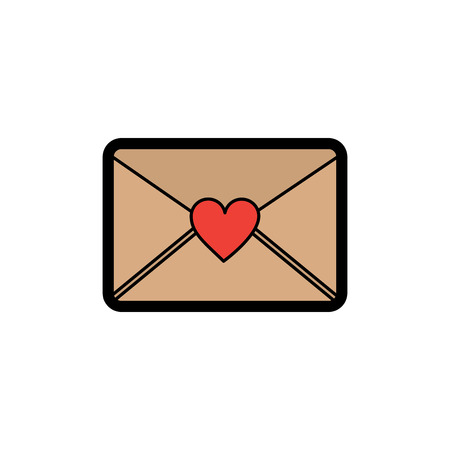 love letter valentines day icon image vector illustration design Illusztráció