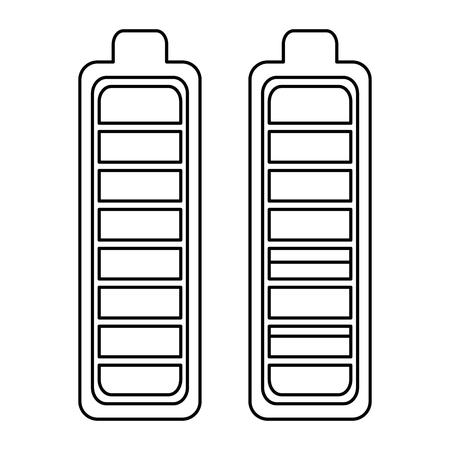 Batterie Ebenen Energie Symbol Vektor-Illustration Design Standard-Bild - 96588938