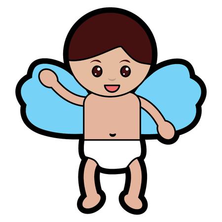 Baby angel icon image vector illustration design Archivio Fotografico - 96588953