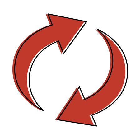 Arrows reload around icon vector illustration design