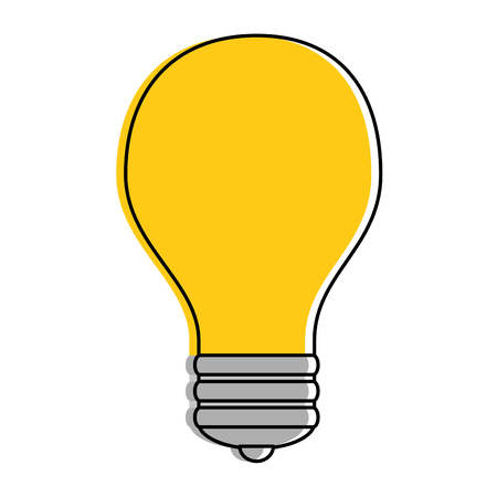Colored light  bulb, idea icon vector illustration design