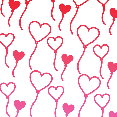 heart balloon valentines day icon image vector illustration design  pink line Illustration
