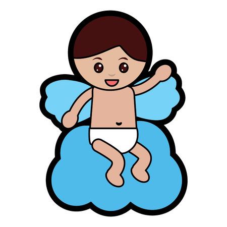 baby angel icon image vector illustration design Archivio Fotografico - 96597025