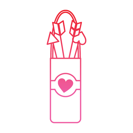 arrow holder cupid valentines day icon image vector illustration design  pink line Imagens - 96596950