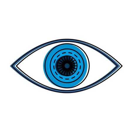 A human eye, clear view icon vector illustration design