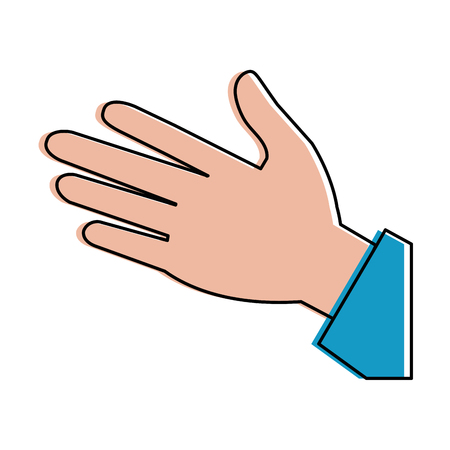 A human  hands  palm icon vector illustration design