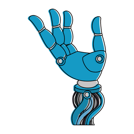 Robot hand humanoid icon vector illustration design Иллюстрация