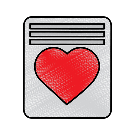 love letter valentines day related icon image vector illustration design  sketch style Ilustrace